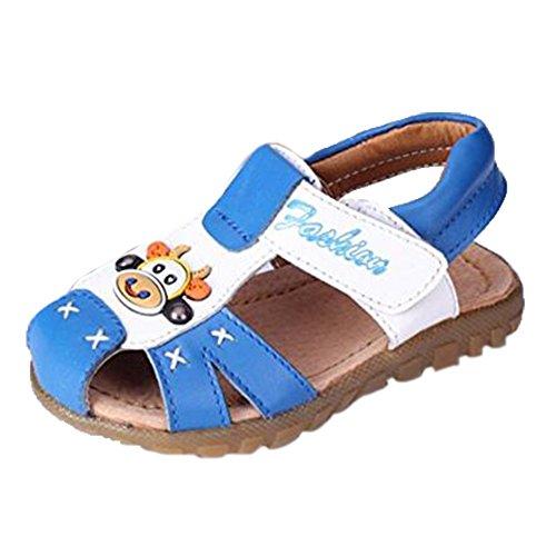 Ohmais Kinder Baby Jungen Baby Kleinkind Schuh Leder weich Blau