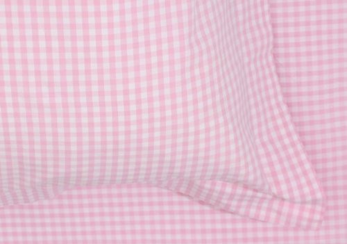 BABY PINK GINGHAM **FREE UK POST** CHECK MATERIAL テつシ GINGHAM CHECK POLYCOTTON FABRIC PER METRE by Balsara`s
