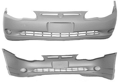 Crash Parts Plus Front Bumper Cover for 2000-2005 Chevrolet Monte Carlo