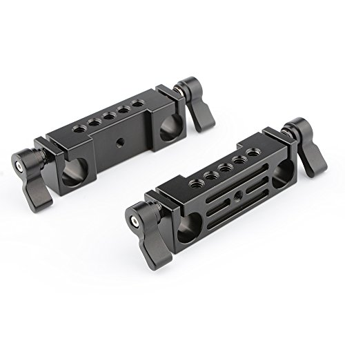 CAMVATE 15mm Rod Clamp Railblock for DSLR 15mm Rail Rig Rod Support System(2 PCS)