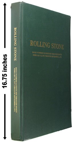 Rolling Stone Magazine, Bound Issue Numbers 76 - 90 (Hardback) (Feb. 18, 1971 - Sept. 2, 1971)