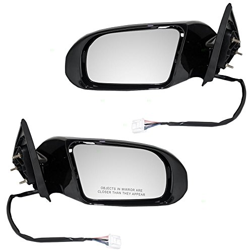 (Driver and Passenger Power Side View Mirrors Heated Signal Smooth Replacement for Nissan 96302-9N83A 96301-9N83A AutoAndArt)