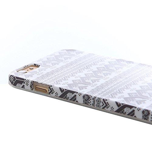 """RE:CRON® iPhone 6 Plus (5,5"""") Handy Motiv Schutzhülle Case Cover – Pixel Muster"""