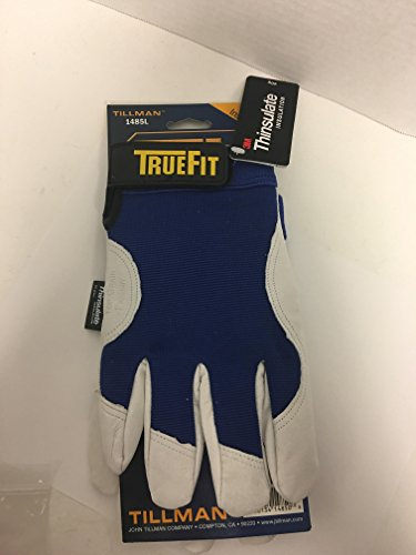 Plastic Mens Glove (John Tillman TIL1485L Large Blue/Gray True Fit Top Grain Pigskin/Nylon Thinsulate Lined Cold Weather Gloves, English, 30.68 fl. oz., Plastic, 1 x 7.5 x 5)