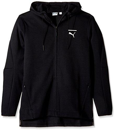 PUMA Men's EVO Core Full Zip Hoodie, Black, X-Large