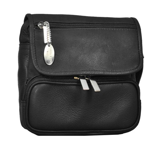 David King & Co. Large Double Pocket Waist Pack, Black, O...