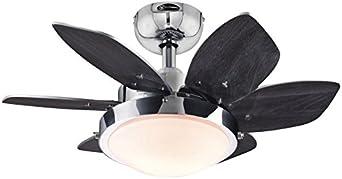 Westinghouse Lighting Quince Ventilador de Techo E14, Cromo ...