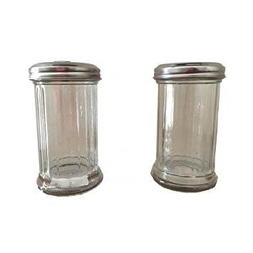 Dosificador de azúcar y queso (Combo Pack de 2 contenedores condimento Sugar Contenedor & Graded
