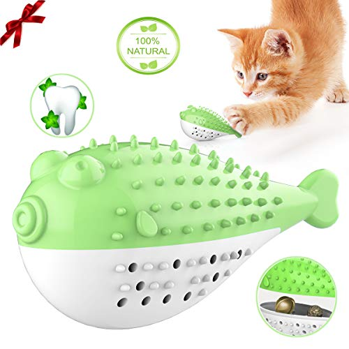 Borndo Cat Toys,Cat Toothbrush Catnip Toys, Interactive Cat Toys with Catnip Cat Chew Toy,Catnip Toys for Indoor Cats…
