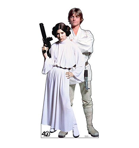 Advanced Graphics Luke & Leia Life Size Cardboard Cutout Standup - Star Wars 40th Anniversary]()