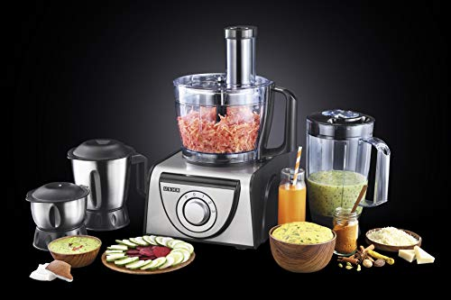 Usha FP 3810 Food Processor 1000-Watt Copper Motor with 13 Accessories(Premium SS Finish)