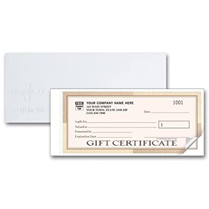 amazon com santa fe customized gift certificate forms office