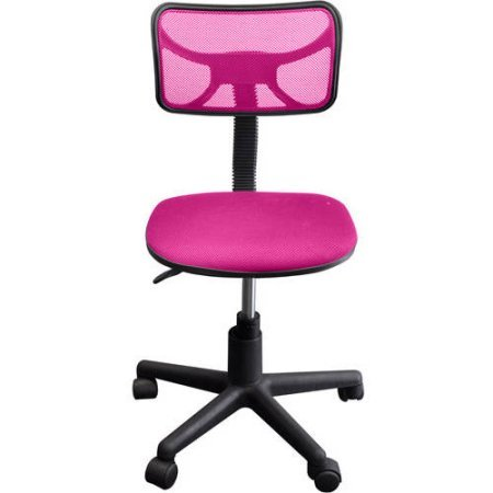 Urban Shop Swivel Mesh Chair | Adjustable Lever for Varying Heights (Pink)