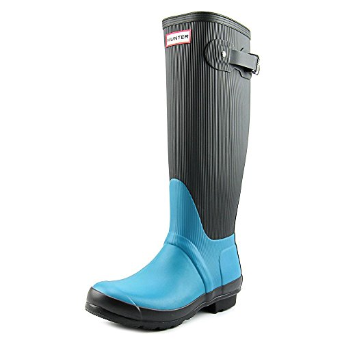Hunter Original Ribbed Leg Waterproof Rubber Rain Boot Bright Peacock GI3AwWSB