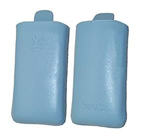 Suncase - Funda de cuero para LG GS290 Cookie Fresh, color  azul