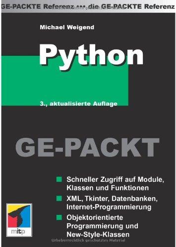 Python GE-PACKT Taschenbuch – 2006 Michael Weigend REDLINE 3826616596 Programmiersprachen
