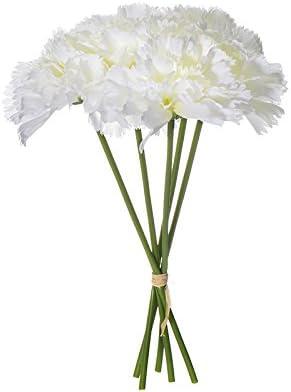 Decor Wedding Decoration Bridal Bouquet Artificial Silk Flowers Carnation Bunch