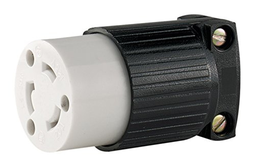 Cooper Wiring Hart Lock - EATON Wiring L520C 20-Amp 125-Volt Hart-Lock Industrial Grade Connector with Safety Grip Black and White