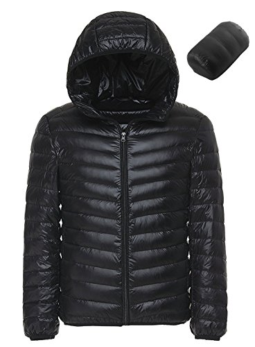 Sawadikaa Men's Winter Hooded Packable Ultra Light Pillow Down Puffer Jacket Coat Outdoor Quilted Lightweight Down Parka