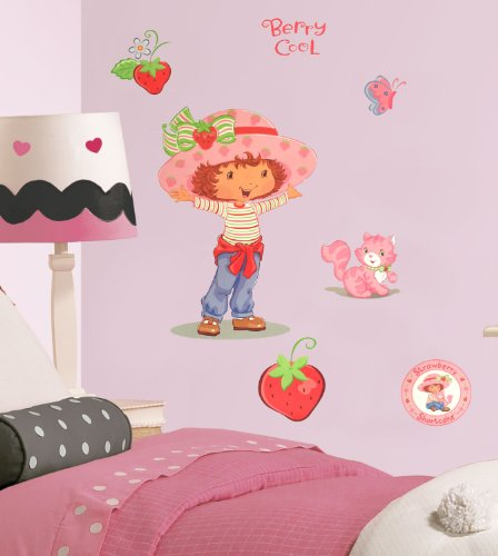 Strawberry Shortcake Accent Berry Cool Self-Stick (Strawberry Shortcake Wall Stickers)
