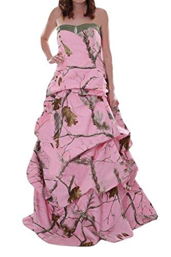 Ange Mariée Rose Robe De Bal De Camouflage Robe De Retour À La Maison Robe De Demoiselle D'honneur Camo Pink4
