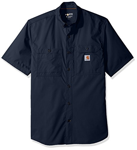 Carhartt Men's Force Ridgefield Short Sleeve T-Shirt (Regular and Big & Tall Sizes), Navy, X-Large