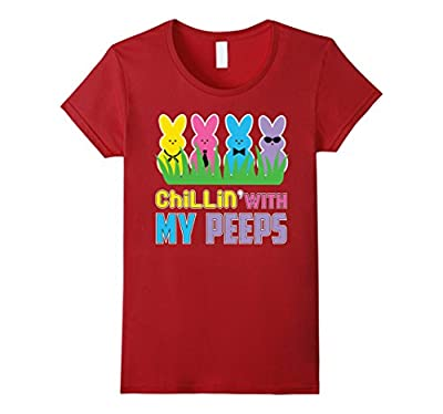 Chillin With My Peeps Easter T Shirt Funny Bunny Shirts