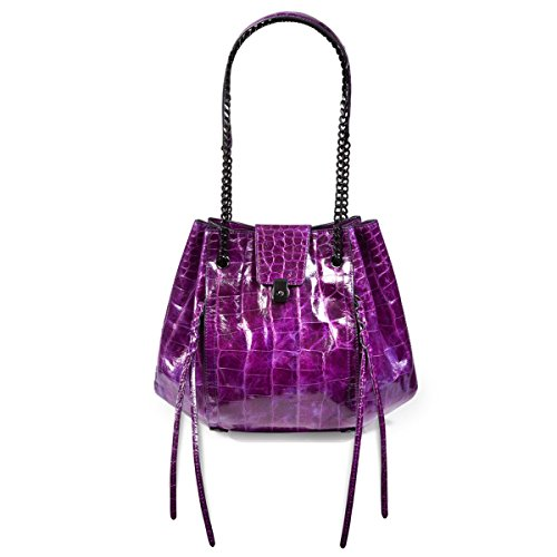 Eric Javits Luxury Fashion Designer Women's Handbag - Lil' Leigh - Violet by Eric Javits