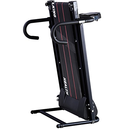Fitness Club Reinforced Folding Electric Treadmill Running Fitness Machine with Free Twist Plate