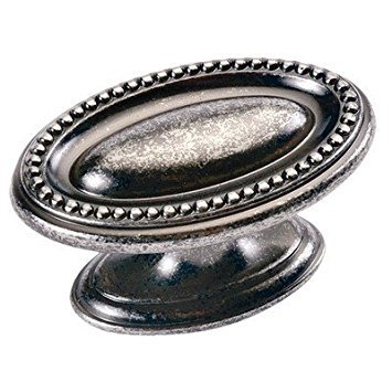 - Altair Oval Knob Finish: Black Nickel Vibed