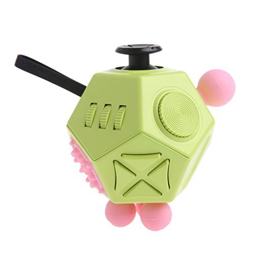 BIGBI 12 Sided Fidget Cube Finger Toy Anti-anxiety Stress Release Focus Kids Adults