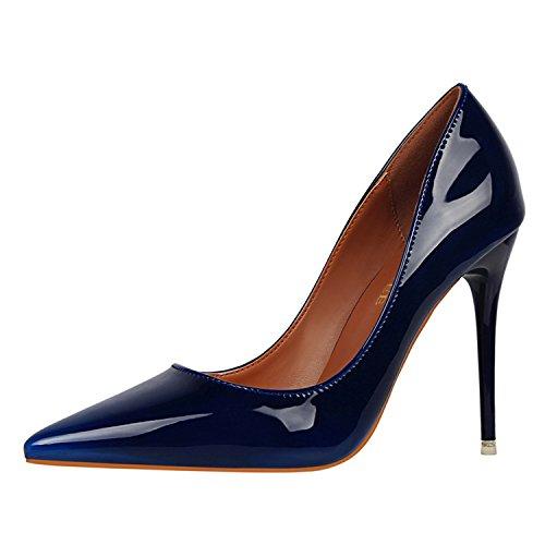 Zapatillas Scarpe 39 Size34 Vernice Pompe Tacco Delle z Nuove Alto Royal In Verdi Marchio Blu Centimetri Rosso Femminili Gome Donne 10 Mujer Supersexy Delle qR5E6Fwxw