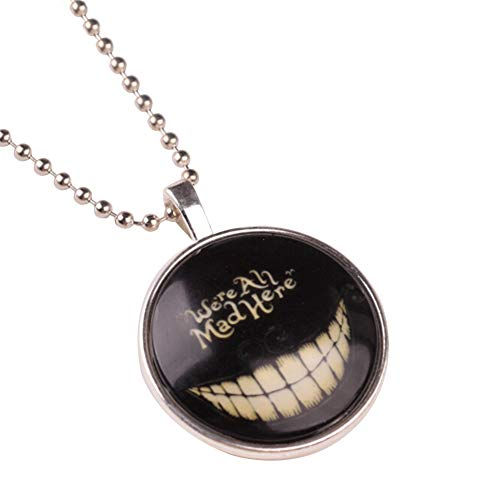856store Clearance Sale Unisex Necklace Glow in The Dark Punk Teeth Halloween Chain Luminous Jewelry Black -