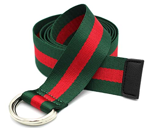 Alins Canvas Belt Double D-Ring Buckle Gucci Style 1.5