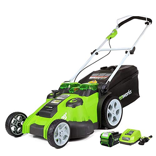 Greenworks 20-Inch 40V Twin Force Cordless Lawn Mower, 5.0 AH Battery and Charger Included, 25302