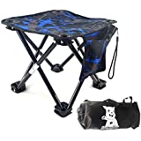 BubbyBear Small Folding Chair,Portable Lightweight Waterproof 600D Oxford Outdoor Folding Chair for Camping Fishing Travel Hiking picnic Beach Quickly Fold Chair Stool