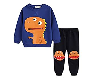 BQT Baby/Toddler Dinosaur 2 Piece Set Royal Blue