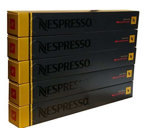 50 Nespresso OriginalLine Decaffeinated Capsules Variety, 50 Count (50 Decaf Volluto) - ''NOT compatible with Vertuoline''