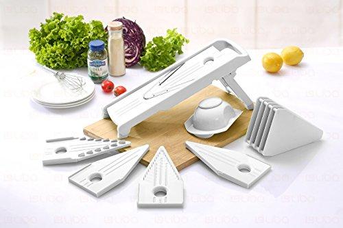 Mandoline Slicer – Vegetable Slicer – Food Slicer – Vegetable Cutter – Cheese Slicer – Vegetable Julienne Slicer with Surgical Grade Stainless Steel Blades