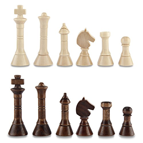 Amerous Chess Pawns Wooden Chessmen with 3.55