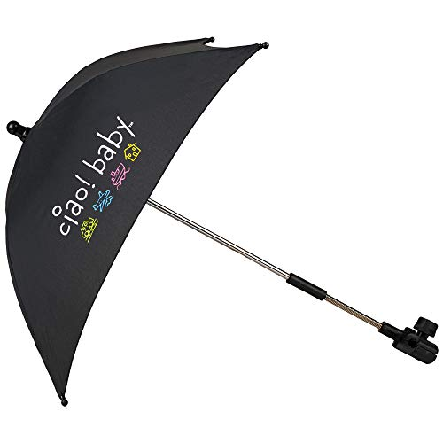 ciao! baby Clip On Umbrella, Black