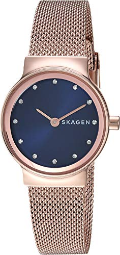 Skagen Women's Freja Crystal Markers - SKW2740 Rose Gold One - Skagen Black Womens Mesh Watch