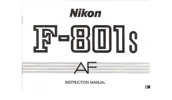 Foto & Camcorder Nikon F-801 AF Bedienungsanleitung Photographica