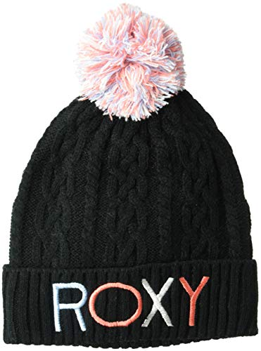 Roxy Baby Girl - Roxy Girls' Little Baylee Snow Beanie, True Black, 1SZ