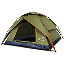 2-3 Person Camping Tent - Toogh 4 Season Backpacking Tent Automatic Instant Pop Up Tent for Outdoor Sports
