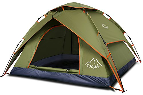 2-3 Person Camping Tent – Toogh 3 Season Backpacking Tent Automatic Instant Pop Up Tent for Outdoor Sports