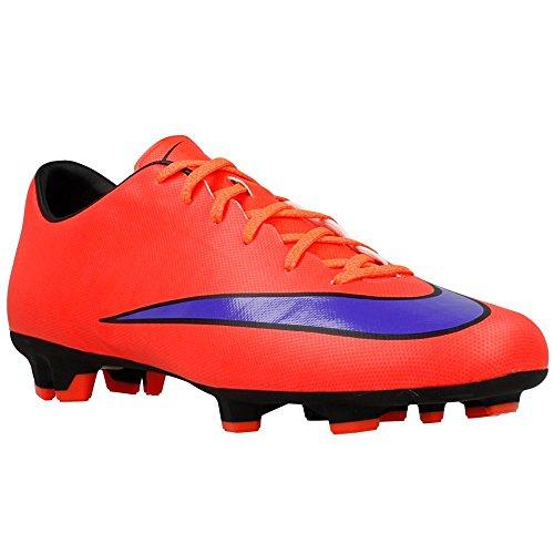 Nike Men's Mercurial Victory V Fg Brght Crimson/Prsn Violet/Blk Soccer Cleat 11 Men US 651632-650