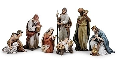 Roman - 9.5''7PC ST NATIVITY W/SHEPHERD by Fontanini