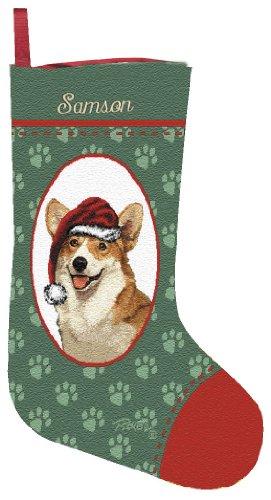 Personalized Welsh Corgi Christmas Stocking (Tapestry Dog Stocking Christmas)