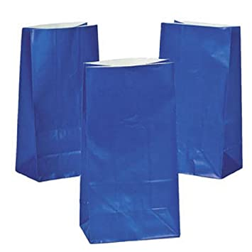 Amazon.com: Royal Blue Paper Gift Bags (1 dz): Kitchen & Dining